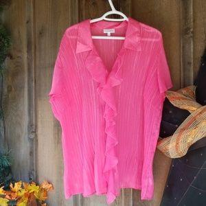 Fashion bug pin light weight blouse size 3x